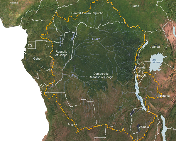 Congo River watershed © Greg Fiske, WHRC