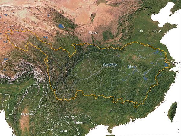Yangtze River watershed © Greg Fiske, WHRC