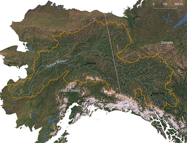 Yukon Global Rivers Observatory - Yukon river world map