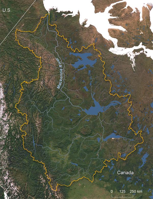 Mackenzie River watershed © Greg Fiske, WHRC