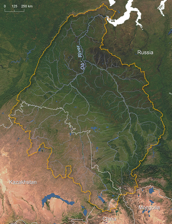 Ob' River watershed © Greg Fiske, WHRC