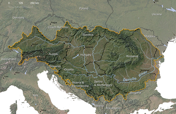 Danube River watershed © Greg Fiske