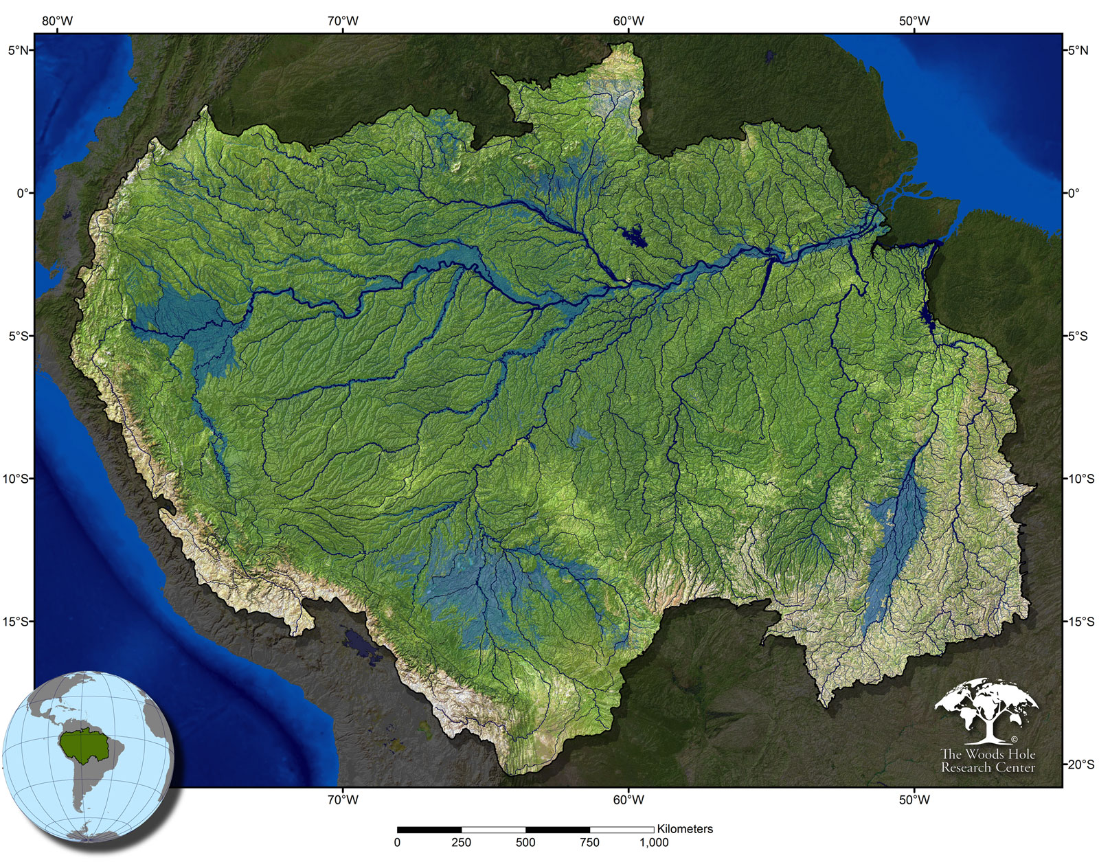 Amazon River Expedition Global Rivers Observatory - World map showing amazon river